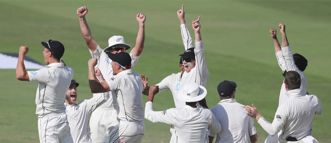 New Zealand Beat Pakistan By 4 Runs In First Test Match