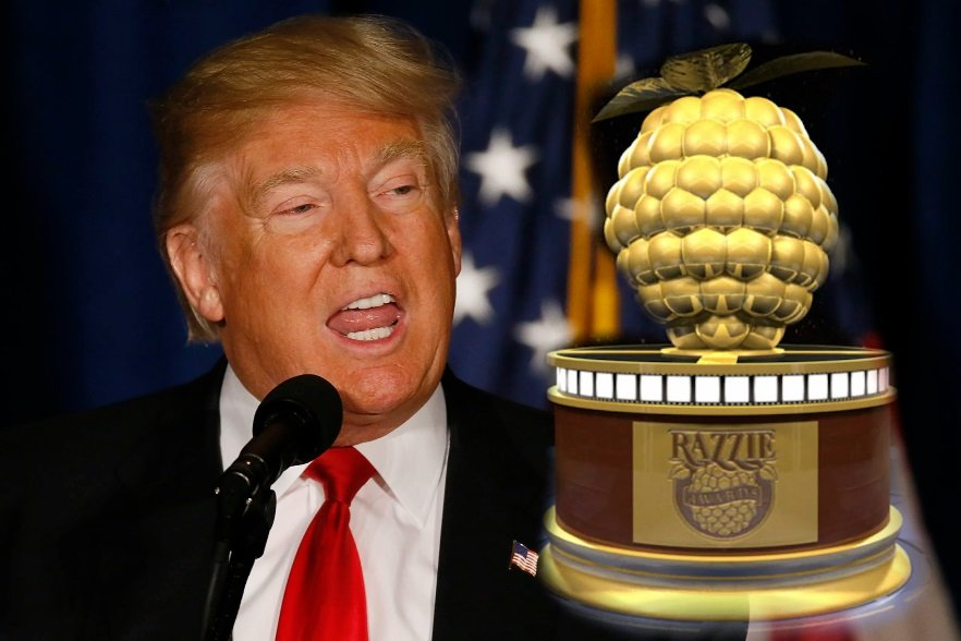 American President, Donald Trump, Golden Raspberry Awards, Razzie, OSCAR Awards Management, America's First Lady Melanie Trump, Andrew Vire, Johny Depp, Will friedle, John Travolta,Bruce wills,bankers entertainment diary